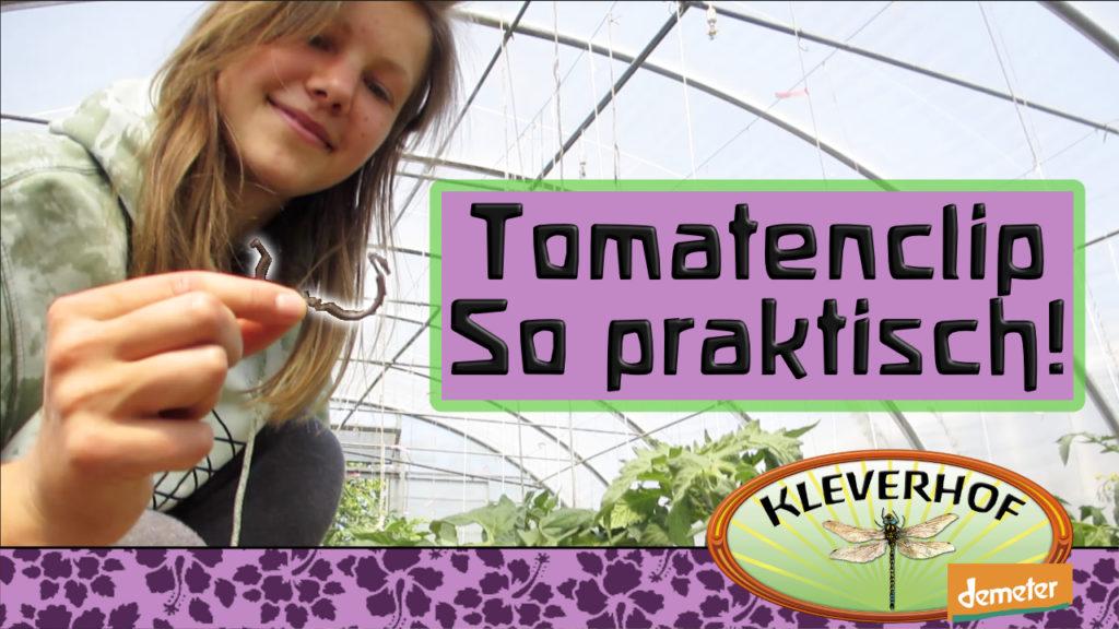Ein Zweiteiler auf YouTube. Er stellt den Tomatenclip vor.